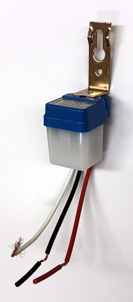 Photocell for solar powered windsocks
